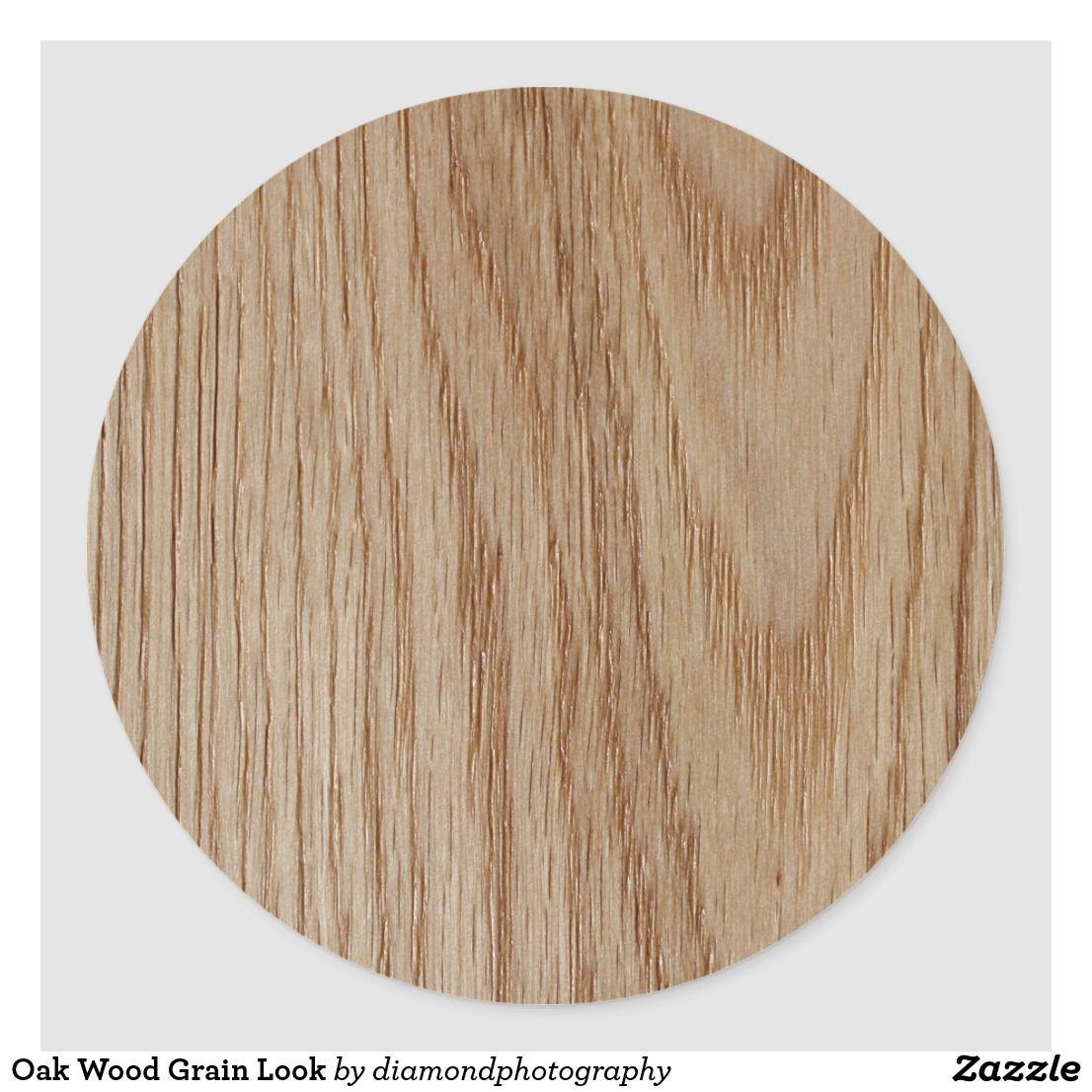 Oak Wood Grain Look Classic Round Sticker Zazzle Com Wood Grain Staining Wood Oak Wood [ 1106 x 1106 Pixel ]