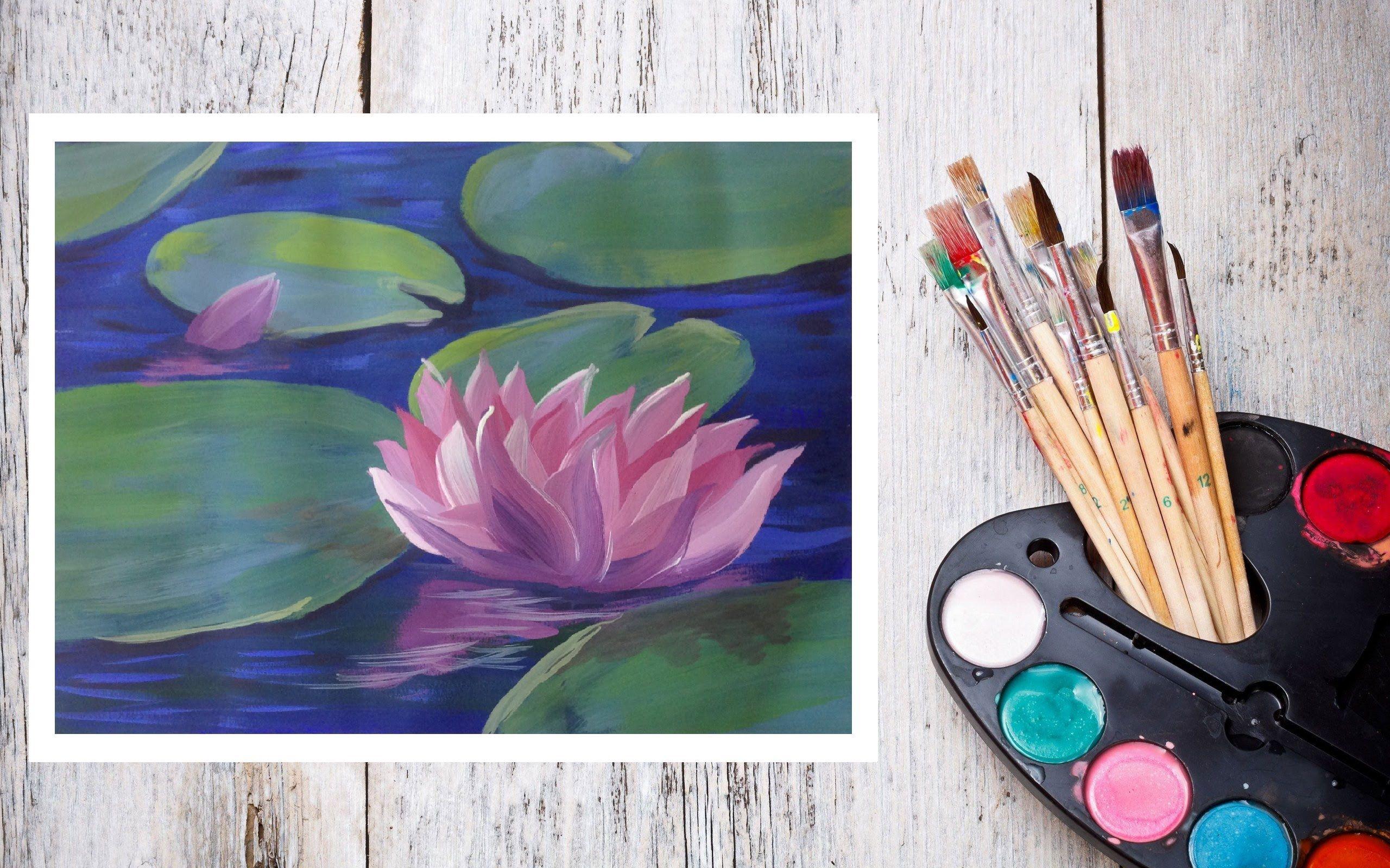 Красивые рисунки красками для начинающих поэтапно