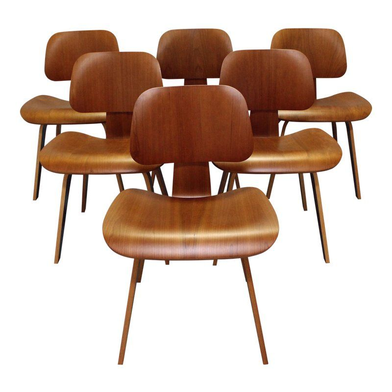 Peachy Herman Miller Eames Molded Plywood Dining Chairs Set Of 6 Pabps2019 Chair Design Images Pabps2019Com