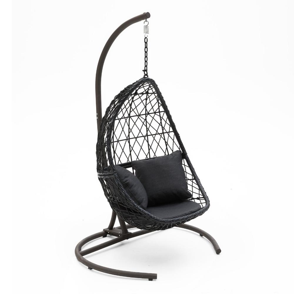 Belham Living Capeside Outdoor Wicker Hanging Egg Chair