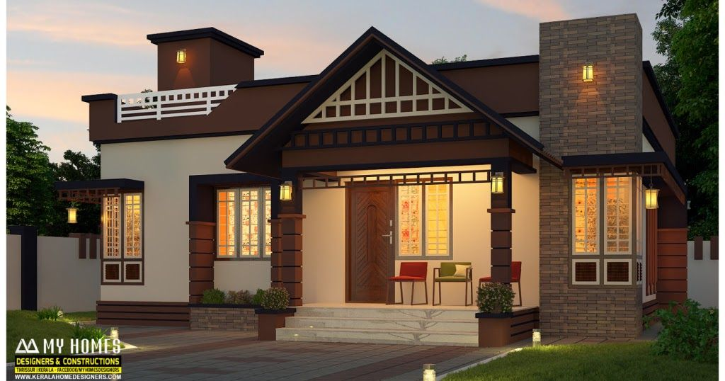 2 Bedroom Home For 14 Lakhs Low Budget Kerala Home Designs House Plans Between 750 And 8 Single Floor House Design Minimalis House Design Kerala House Design Small house plan kerala 750 sq
