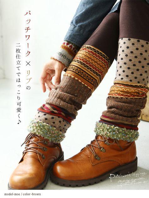 Photo of morsomme upcycled strikker leggings