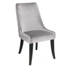 This Beautifully Sculpted Dining Chair Can Also Be Used As An Occasional  Chair, Sensual Faux Velvet Gives It A Dramatic Lounge Look. Kiln Dried  Hardwood ...