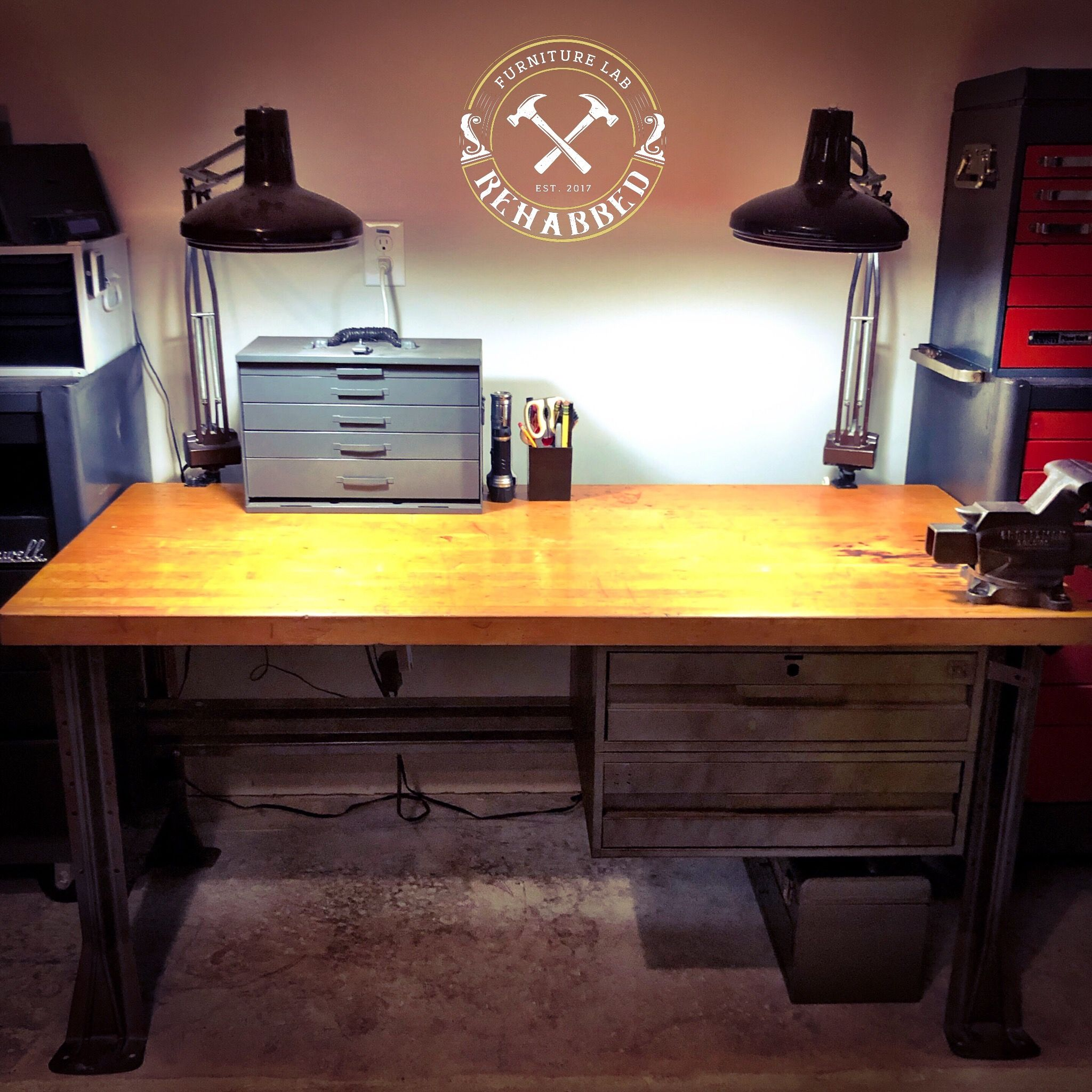 Desk Was Purchased From A Woman Who Used It As Her Desk At A Nuclear Power Plant In Delaware Amazing Piece Metal Desks Desk Furniture Rehab