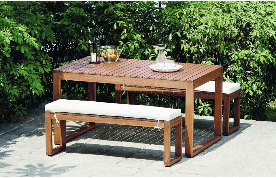 garden dining table & bench set
