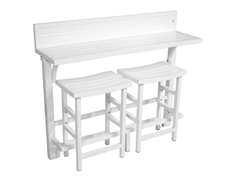 Miyu furniture 3 piece balcony bar white for Amazon muebles terraza