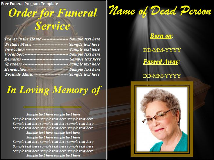 Lovely Free Funeral Program Templates | ... Download Button And Make This Free  Funeral Program Regard To Free Funeral Programs Downloads