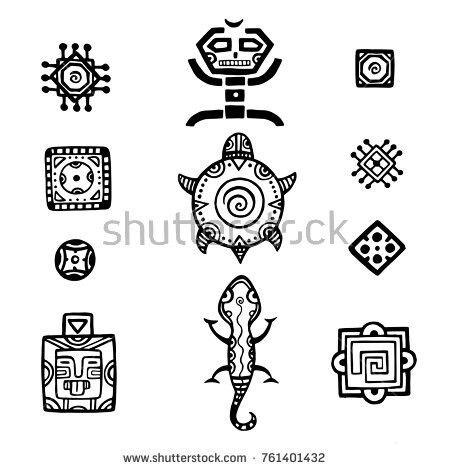 Pin De Claudia Caro En Dibujos Simbolos Mayas Simbolos Aztecas Vector