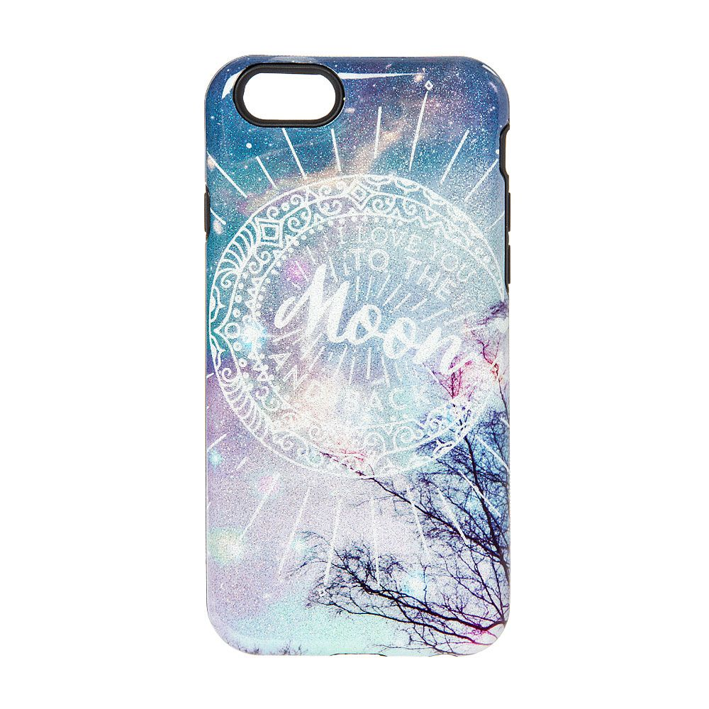 I Love You To The Moon Amp Back Glitter Phone Case Iphone