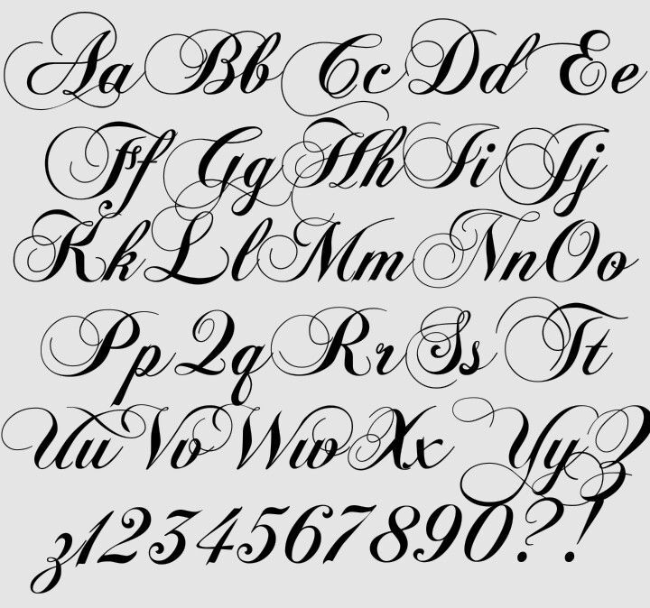 Calligraphy Alphabet, Hand Lettering