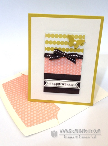Stampin Up Stampinup Itty Bitty Banners Framelits Dies Birthday Card Idea Order Online Stamp It Pretty Mary Fish