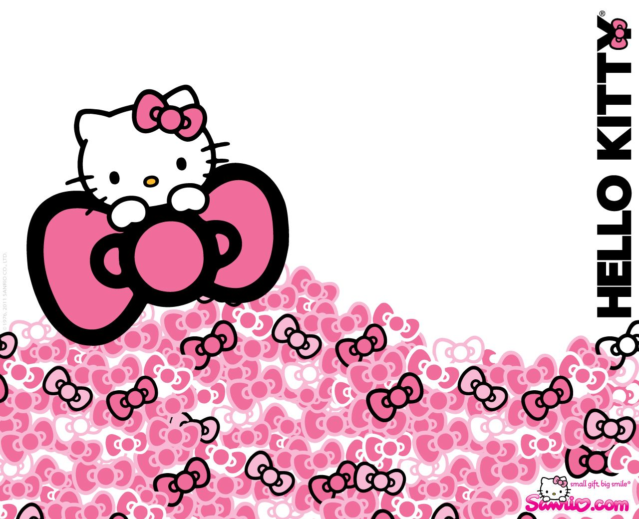 The Cute Little Cat All In Pink Hello Kitty Backgrounds Hello Kitty Wallpaper Hello Kitty Tumblr