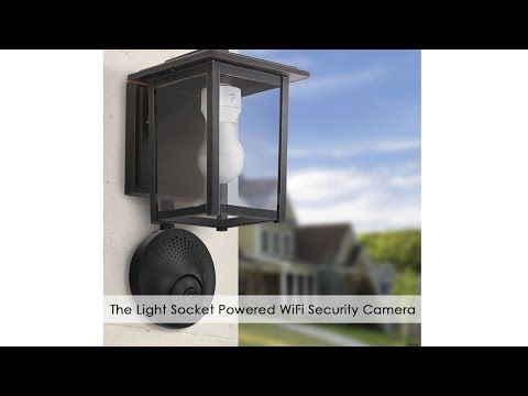 Light Socket Powered Wi-Fi Security Camera | Security ideas ... on lighting for kitchen ideas, lighting for staircase ideas, lighting for deck ideas, lighting for living room ideas, lighting for bedroom ideas, lighting for basement ideas,