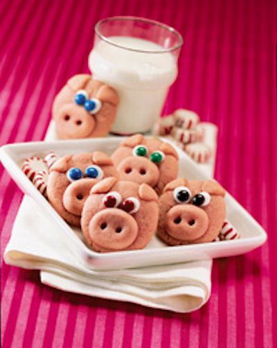 Ring In Prosperity With Peppermint Pig Cookies Pillsbury Cookie