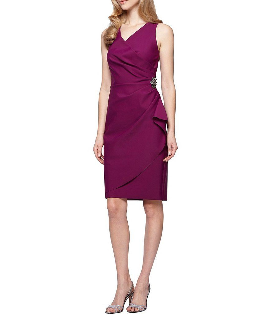 Alex evenings ruched sheath dress dillards clothing accessories