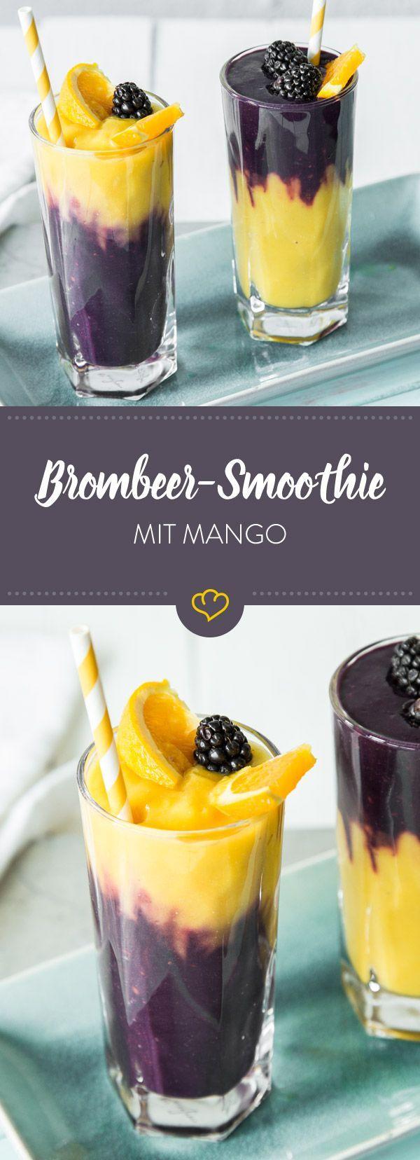 Photo of Hawaiian blackberry and mango smoothie