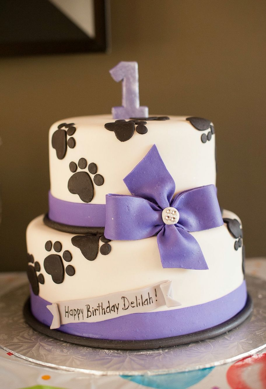 Doggies first birthday cake for the humans Family presents