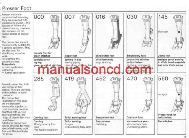 Bernina  Sewing Machine Instruction Manual  Bernina
