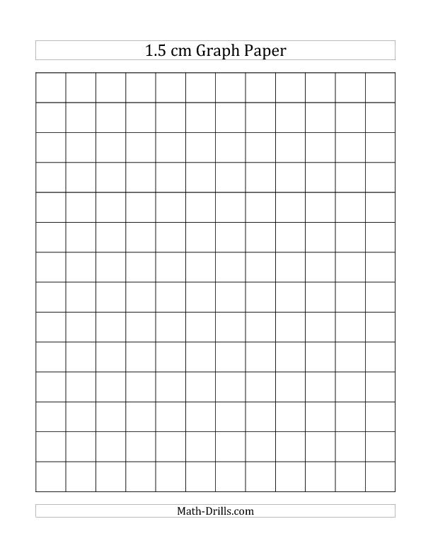 15 cm Graph Paper (All) *New 2013-07-23* Plus many more new items - full page grid paper
