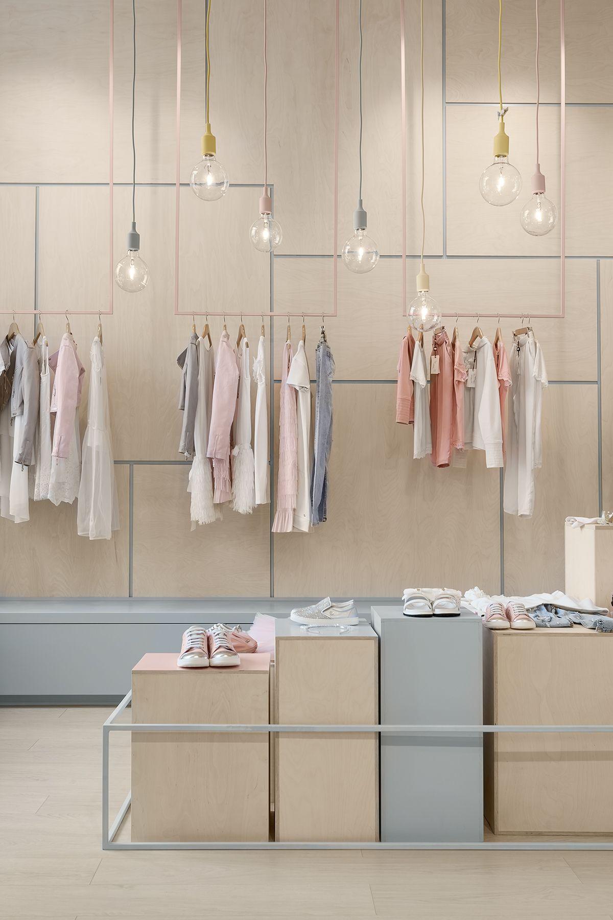 Cabinet Design For Clothes For Kids childrens clothing shop in kyiv, ukraine, designedlena