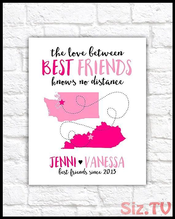 Custom Letter for Best Friend Art Friendship Poem Birthday or Thank You Gift BFF Friend Art Personalized Friends Miss YouWF323 Custom Letter for Best Friend Art Friendshi...