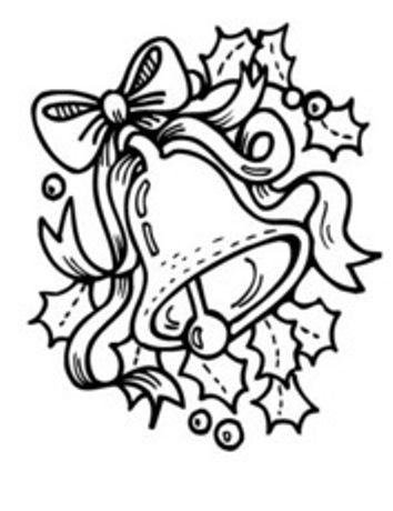 Dibujo campana de navidad para imprimir