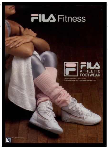 80s #fitness #fashion #workout #fila