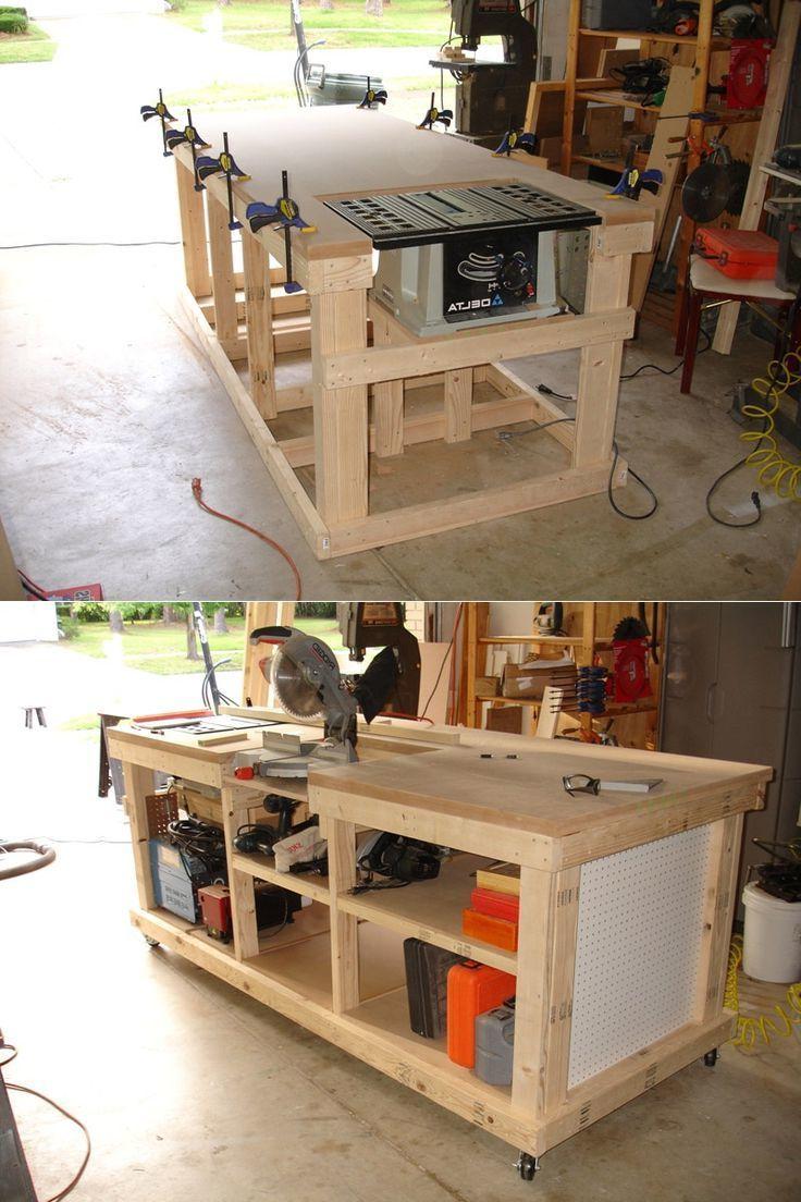 2 bauanleitungen f r heimwerker werktisch und werkbank selber bauen ordnung einrichtung. Black Bedroom Furniture Sets. Home Design Ideas