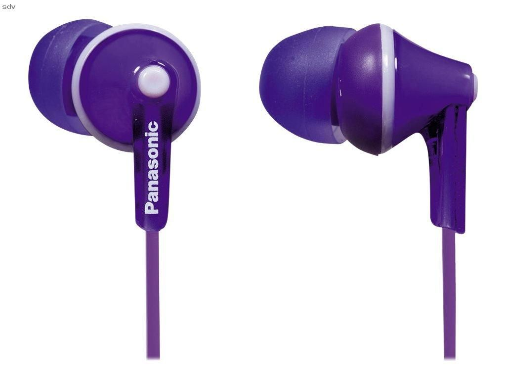 Panasonic Rp Hje125 V Headphones Purple Ergo Fit Design For Ultimate Comfort Fitcolor Matched Cord Controllerneodymium Magnet9mm Driver
