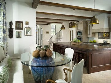 Love How Stools Tuck Under Glass Top Dining Table Glass Dining Room Table Modern Kitchen Tables