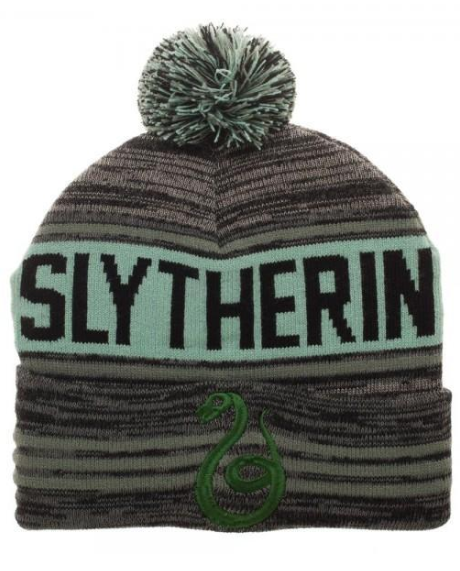 Harry Potter Black Green Teal Marled Pom Beanie. This acrylic hat features a  quality knit 2a7fb9100f8e