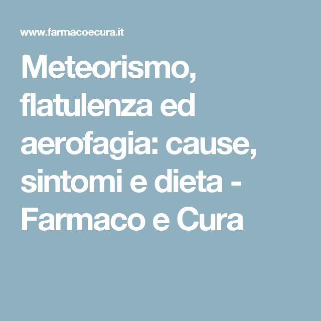 dieta per evitare il meteorismo