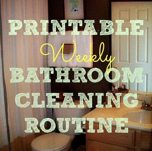 This weekly bathroom cleaning routine includes a printable flowchart to guide you step-by-step to cleaning every surface of your bathroom efficiently.