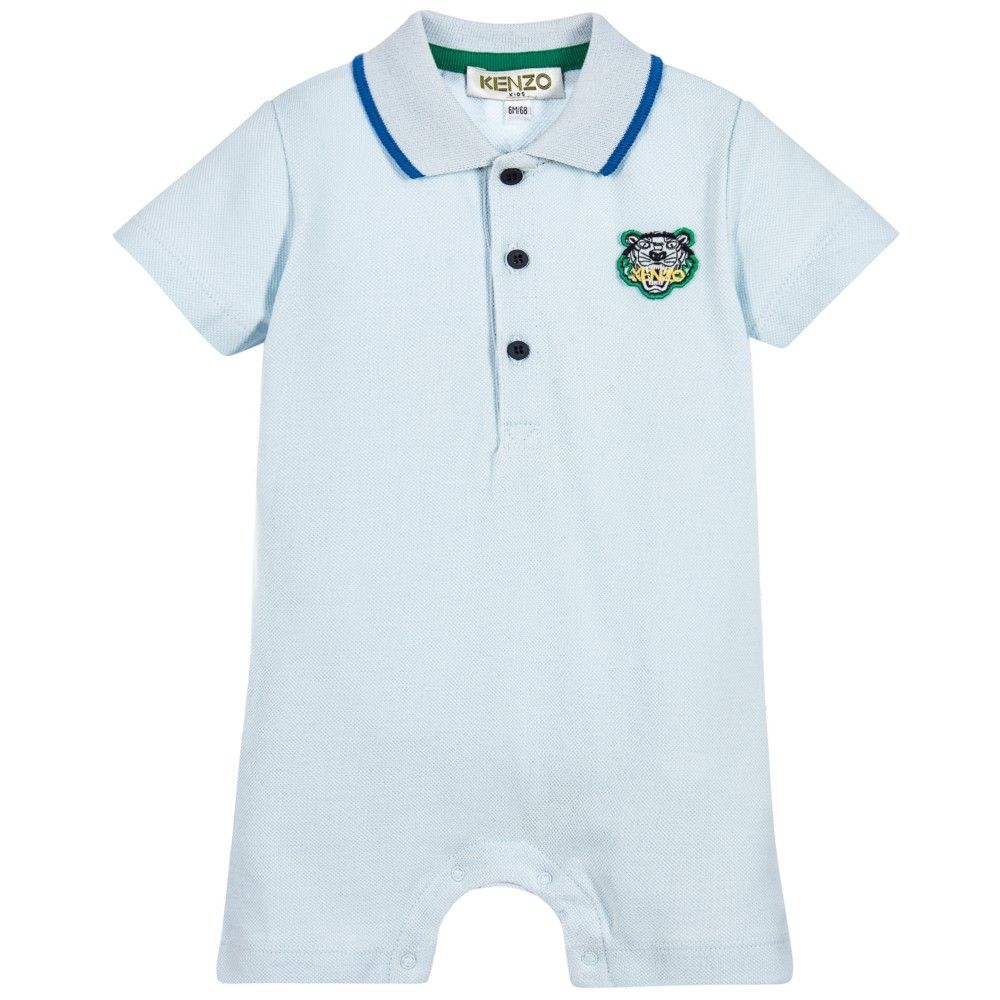 6a626ca515d8 Kenzo - Blue Polo Baby Shortie with Tiger | Childrensalon | LC Boys ...