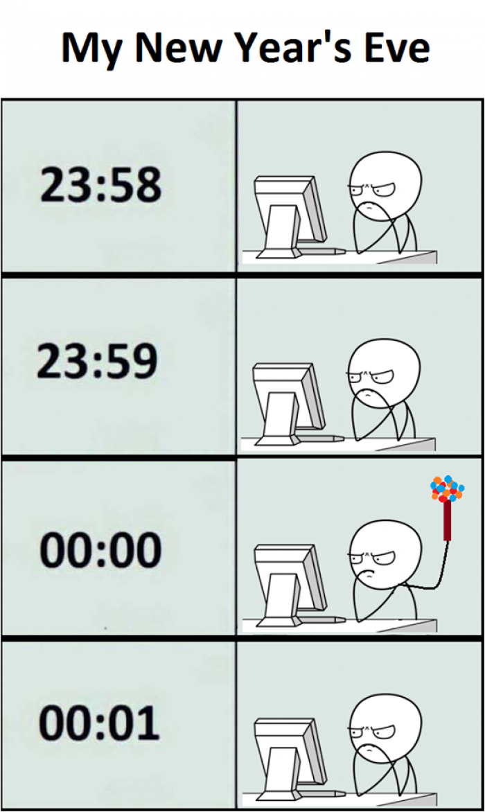 Programmer S New Year Eve Programmer Jokes Funny New Year New Years Eve Meme