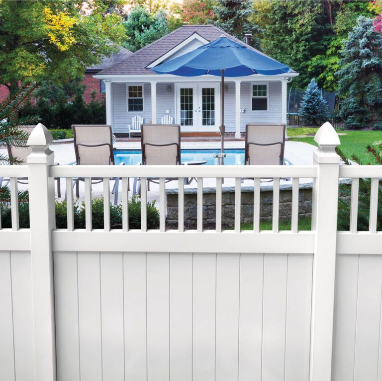 Hampton 6x6 Vinyl Privacy Fence Kit Vinyl Fence Freedom Outdoor Living For Lowes 6x6 Fence Freed Vinyl Privacy Fence Vinyl Fence Panels White Vinyl Fence