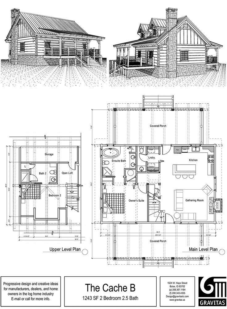 2 Story Floor Plan Eliminate Master Bath And Add More Storage Turn Lower Level Half Bath Into Full Bath Cabin Plans With Loft Small Cabin Plans Floor Plans