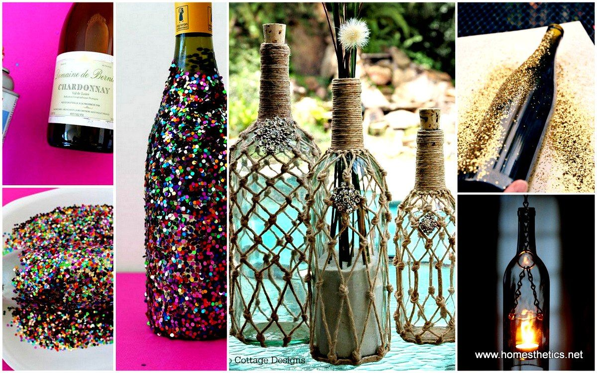 Wine Bottle Decorations Diy 40 Diy Wine Bottle Projects And Ideas You Should Definitely Try
