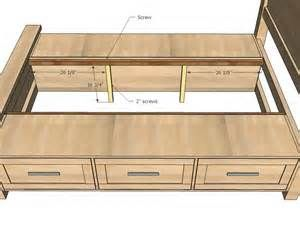 King Size Bed With Storage Plans Bing Images Diy Farmhouse Bed
