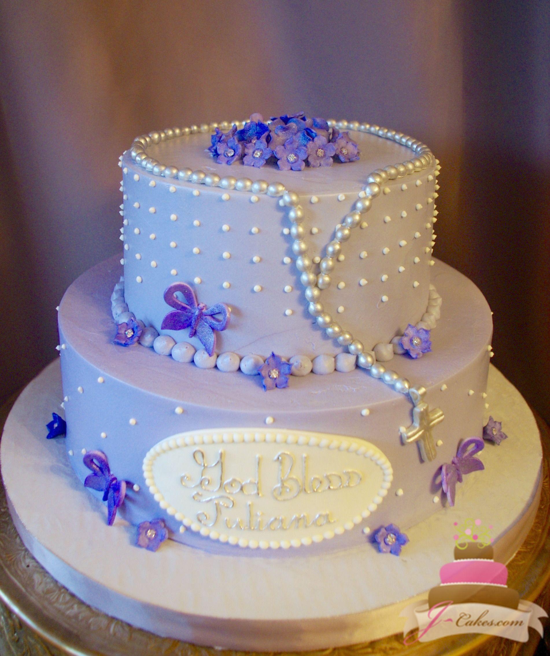 Purple Butterfly Communion Cake