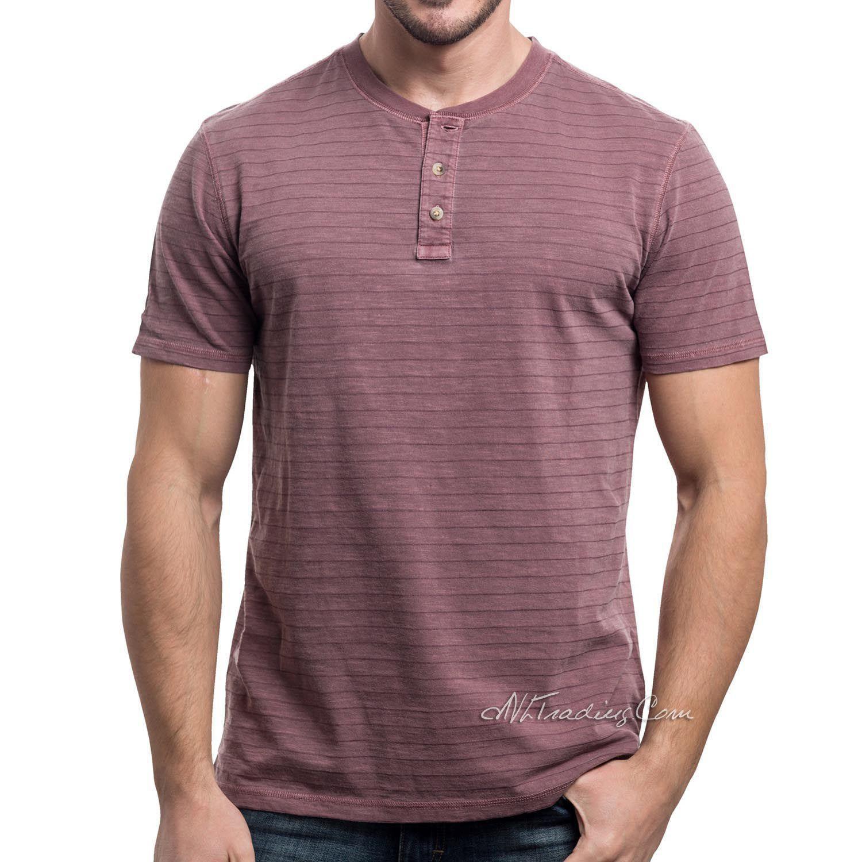 2083b697 LEE Premium Select Texure Stripes Henley Men Short Sleeve Shirt Vintage Wash