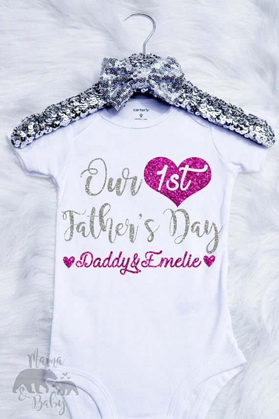 happy first fathers day first fathers day gift funny fathers day first time dad gift cute fathers day present Funny Baby Clothes