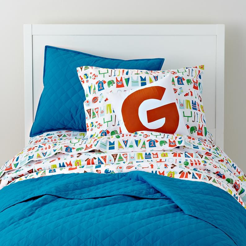 Kids Bedding: Varsity Sports Themed Kids Bedding in Boy ...