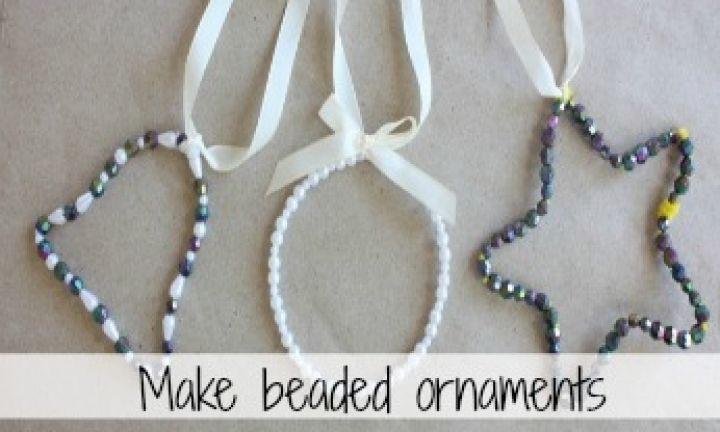 Make your own beaded ornaments - Kidspot