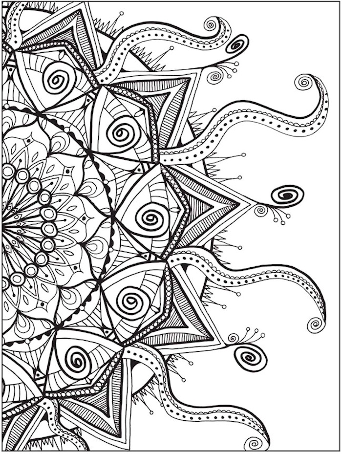 Dover Zendala Coloring Page 4 Adult Coloring Pages