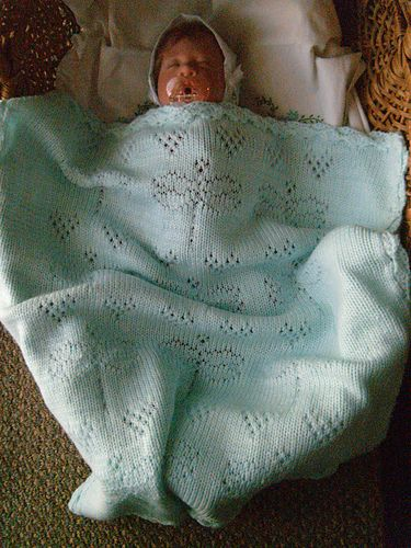Loves Sweetness Baby Blanket With Dragonflies For Machine Knitting