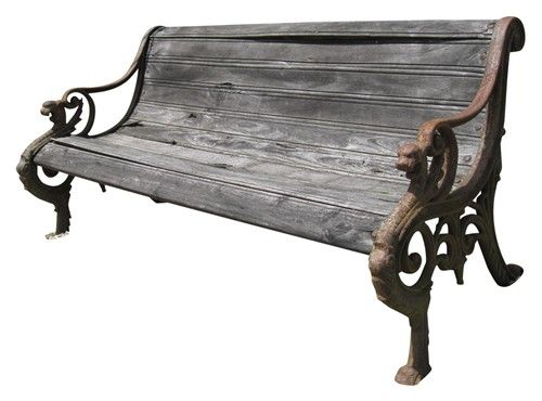 Antique Cast Iron Garden Bench With Wood Seat Take A Seat Pinterest Products Gardens And