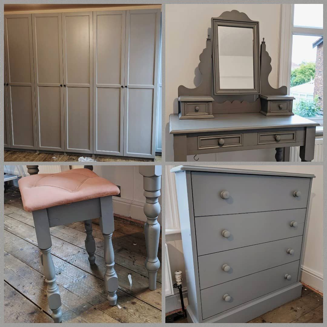 Bedroom Furniture Spray Here Are Some Photos Of A Wardrobe Dressing Table Stool And Chest Of D Furniture Bespoke Furniture Upcycled Furniture Spraying painting bedroom furniture
