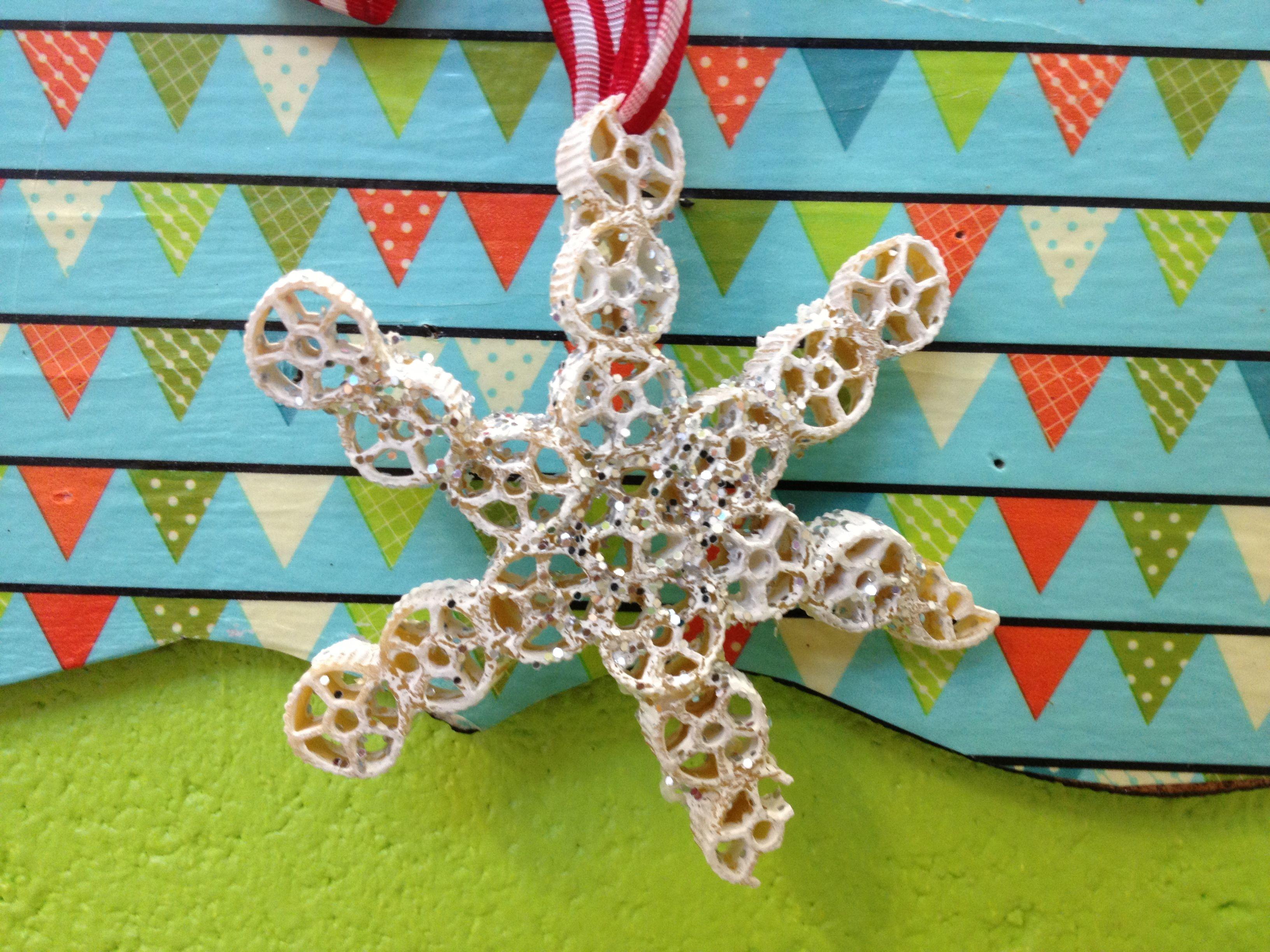 Noodle Snowflake Ornament