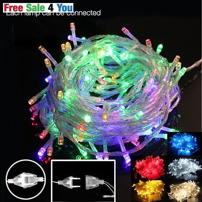 10m 50 led string christmas light tree xmas party holiday wedding fairy garland